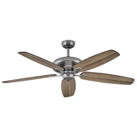 Hinkley 900660FPW-NID Grander 60 inch Pewter with Driftwood/Matte Black Blades Ceiling Fan