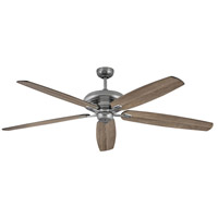 Hinkley 900672FPW-NID Grander 72 inch Pewter with Driftwood/Matte Black Blades Ceiling Fan