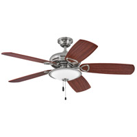 Hinkley 901352FBN-LIA Marquis Illuminated 52 inch Brushed Nickel with Mahogany/Cherry Blades Indoor Ceiling Fan
