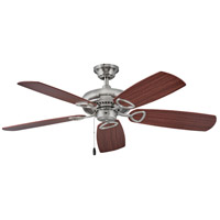 Hinkley 901352FBN-NIA Marquis 52 inch Brushed Nickel with Cherry/Mahogany Blades Ceiling Fan in No Mahogany Regency Series