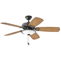 Hinkley 901352FMB-LIA Marquis Illuminated 52 inch Matte Black with KOA/Teak Blades Indoor Ceiling Fan