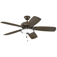 Hinkley 901352FMM-LIA Marquis Illuminated 52 inch Metallic Matte Bronze with Walnut/Metallic Matte Bronze Blades Indoor Ceiling Fan