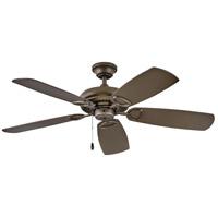 Hinkley 901352FMM-NIA Marquis 52 inch Metallic Matte Bronze with Walnut/Metallic Matte Bronze Blades Ceiling Fan in No Regency Series