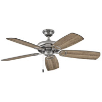 Hinkley 901352FPW-NIA Marquis 52 inch Pewter with Driftwood/Matte Black Blades Ceiling Fan in No Matte Black Regency Series