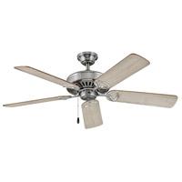 Hinkley 901552FBN-NIA Windward 52 inch Brushed Nickel with Cherry/Weathered Wood Blades Ceiling Fan in Weathered Wood Regency Series