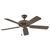 Hinkley 901552FMM-NIA Windward 52 inch Metallic Matte Bronze with Walnut/Metallic Matte Bronze Blades Ceiling Fan Regency Series