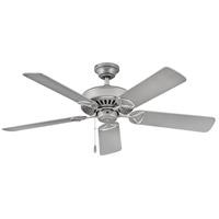 Hinkley 901552FSS-NIA Windward 52 inch Satin Steel with Silver/Weathered Wood Blades Ceiling Fan Regency Series
