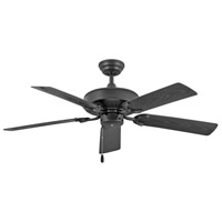 Hinkley 901652FMB-NWA Oasis 52 inch Matte Black Outdoor Ceiling Fan