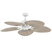 Hinkley 901952FMW-NWD Tropic Air 52 inch Matte White with Weathered Wood Blades Outdoor Ceiling Fan