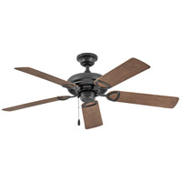 Hinkley 902252FMB-NWA Vera Cruz 52 inch Matte Black with Walnut Blades Ceiling Fan Regency Series