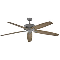Hinkley 902672FGT-NWD Tempest 70 inch Graphite with Driftwood Blades Ceiling Fan