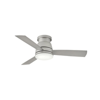 Hinkley 902744FBN-LWD Trey 44 inch Brushed Nickel with Silver Blades Ceiling Fan