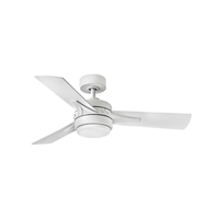 Hinkley 902844FMW-LIA Ventus 44 inch Matte White with Matte White/Weathered Wood Blades Ceiling Fan