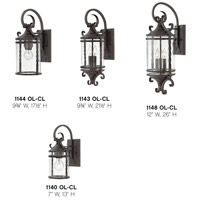 Hinkley 1140OL-LED Casa 1 Light 13 inch Olde Black Outdoor Wall Lantern in LED, Light Etched Amber Glass alternative photo thumbnail