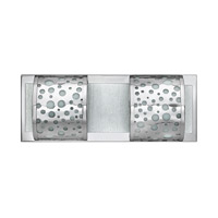 Mira-Fizz 2 Light 16 inch Polished Chrome Bath Vanity Wall Light