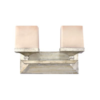San Simeon 2 Light 15 inch Silver Leaf Bath Vanity Wall Light