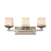 San Simeon 3 Light 24 inch Silver Leaf Bath Vanity Wall Light