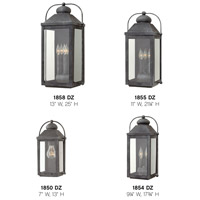 Hinkley 1854DZ Anchorage 2 Light 18 inch Aged Zinc Outdoor Wall Mount in Incandescent, Heritage alternative photo thumbnail