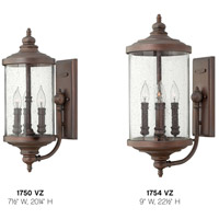 Hinkley 1750VZ Barrington 3 Light 20 inch Victorian Bronze Outdoor Wall Mount, Clear Seedy Glass alternative photo thumbnail