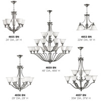 Hinkley 4659bn Bolla 18 Light 48 Inch Brushed Nickel Foyer Chandelier Ceiling In Etched Opal