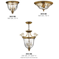 Hinkley 3612BB Cambridge 3 Light 15 inch Burnished Brass Foyer Flush Mount Ceiling Light alternative photo thumbnail