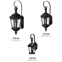 Hinkley 1700BK Camelot 1 Light 16 inch Black Outdoor Wall Mount in Incandescent  alternative photo thumbnail