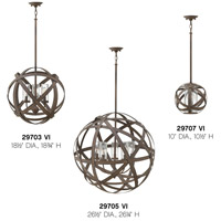 Hinkley 29703VI Carson 3 Light 19 inch Vintage Iron Outdoor Chandelier, Open Air alternative photo thumbnail