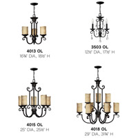 Hinkley 4015OL Casa 5 Light 25 inch Olde Black Foyer Chandelier Ceiling Light alternative photo thumbnail