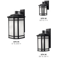 Hinkley 1274VK Cherry Creek 1 Light 15 inch Vintage Black Outdoor Wall Mount in White Linen, Incandescent alternative photo thumbnail