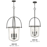 Hinkley 3033DZ Clancy 3 Light 16 inch Aged Zinc Foyer Light Ceiling Light, Clear Glass alternative photo thumbnail