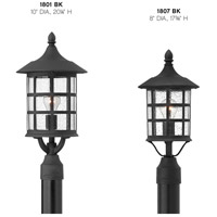 Hinkley 1801BK Freeport 1 Light 20 inch Black Outdoor Post Mount in Clear Seedy, Incandescent, Clear Seedy Glass, Post Sold Separately alternative photo thumbnail