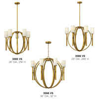 Hinkley 3588VS Margeaux 8 Light 36 inch Vintage Brass Chandelier Ceiling Light alternative photo thumbnail