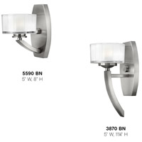 Hinkley 5590BN Meridian 1 Light 5 inch Brushed Nickel Bath Sconce Wall Light in G9 alternative photo thumbnail
