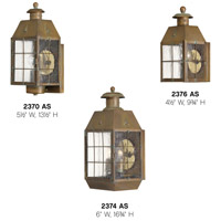 Hinkley 2370AS Nantucket 1 Light 14 inch Aged Brass Outdoor Wall Mount alternative photo thumbnail