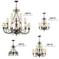 Hinkley 4885PZ Plantation 5 Light 22 inch Pearl Bronze Foyer Chandelier Ceiling Light alternative photo thumbnail