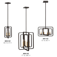 Hinkley 4814DZ Quentin 4 Light 17 inch Aged Zinc Foyer Chandelier Ceiling Light alternative photo thumbnail