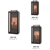 Hinkley 2914OZ Sutcliffe 2 Light 17 inch Oil Rubbed Bronze Outdoor Wall Mount in Candelabra alternative photo thumbnail
