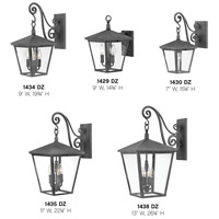 Hinkley 1430DZ Trellis 1 Light 15 inch Aged Zinc Outdoor Wall Mount in Incandescent, Small alternative photo thumbnail