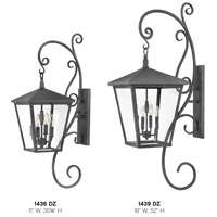 Hinkley 1439DZ Trellis 4 Light 52 inch Aged Zinc Outdoor Wall Mount in Candelabra, Extra Large alternative photo thumbnail