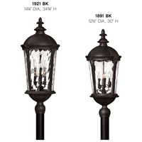 Hinkley 1921BK Windsor 6 Light 35 inch Black Outdoor Post Mount in Clear Water, Incandescent, Post Sold Separately, Clear Water Glass alternative photo thumbnail