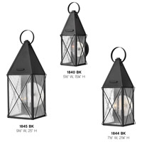 Hinkley 1840BK York 1 Light 15 inch Black Outdoor Wall Mount, Clear Seedy Glass alternative photo thumbnail