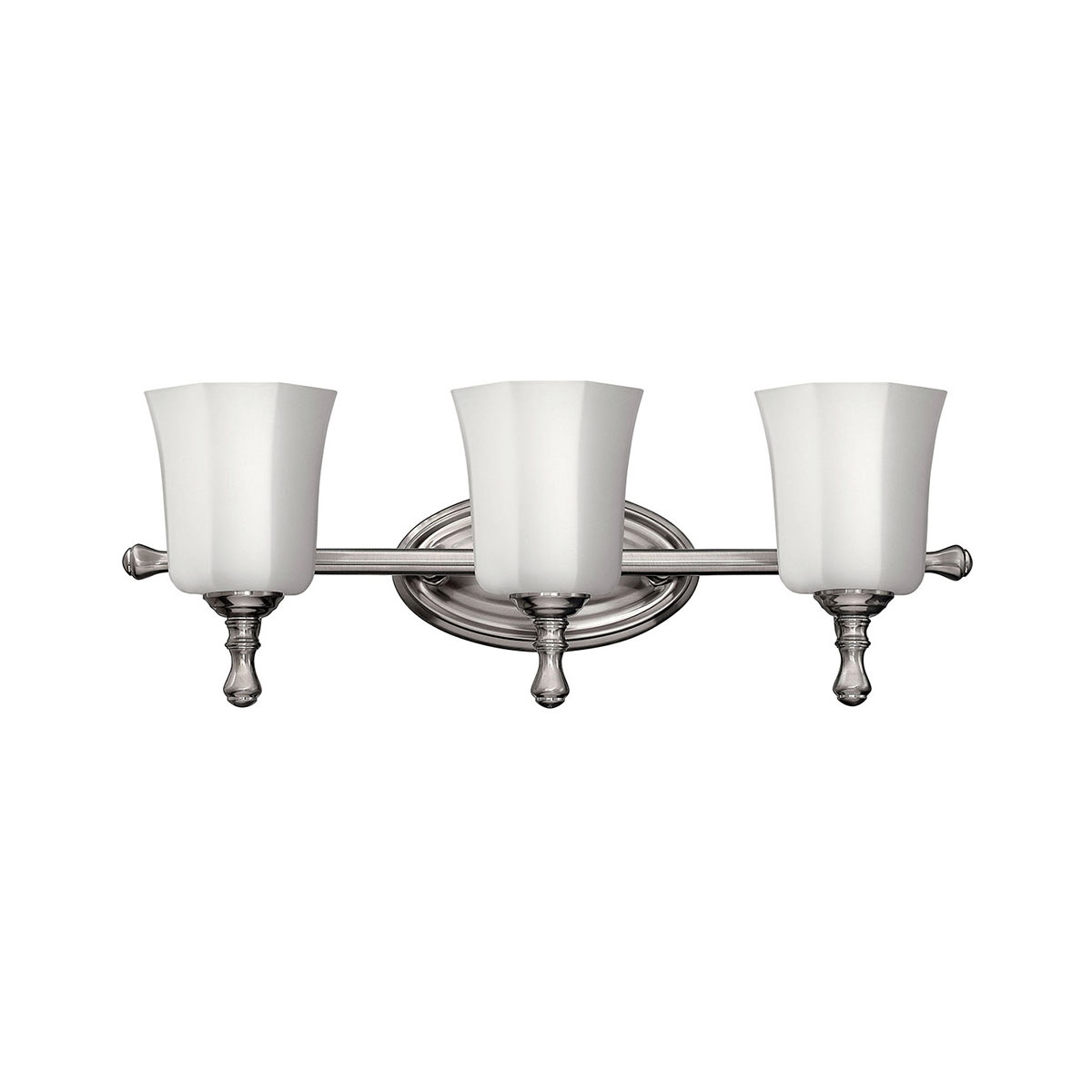 hinkley lighting 5013bn shelly bathroom vanity light brushed nickel 640665501315 ebay. Black Bedroom Furniture Sets. Home Design Ideas