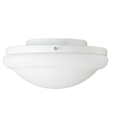 Hunter Fans Energy Efficient 1 Light Fan Light Kit in White with Frosted Glass 27218 photo