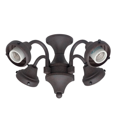 Hunter Fans Four Light Fitter 4 Light Fan Light Kit in Weathered Bronze (no glass) 28127 photo