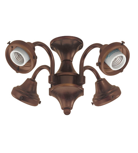 Hunter Fans Four Light Fitter 4 Light Fan Light Kit in Cocoa (no glass) 28128 photo