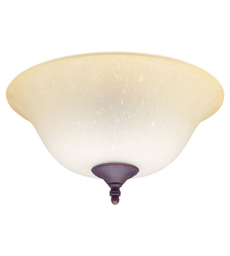 Hunter Fans Bowl Light 2 Light Fan Light Kit in Multiple Finials with Amber Gradated Glass 28549 photo