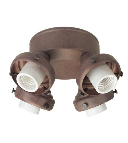 Hunter Fans Four Light Fitter With Integrated Switch Housing 4 Light Fan Light Kit in Weathered Brick (no glass) 28655 photo