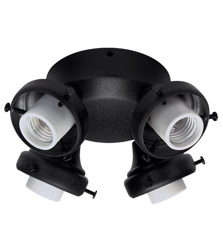 Hunter Fans Four Light Fitter With Integrated Switch Housing 4 Light Fan Light Kit in Black (no glass) 28660 photo