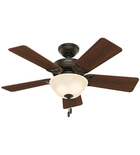 Hunter Fan 51014 Kensington 42 inch New Bronze with Dark Cherry/Medium Oak Blades Ceiling Fan photo