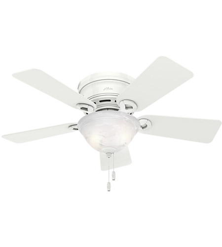 Hunter Fan 51022 Conroy 42 inch Snow White Ceiling Fan, Low Profile photo